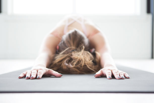 relaxing revitalizing yoga stretch